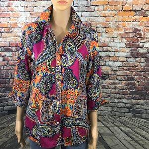 Ralph Lauren Paisley Print ButtonDown Shirt